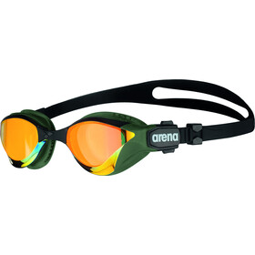 arena Cobra Tri Swipe Mirror Lunettes de protection, yellow copper/army
